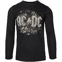 Camiseta de manga larga de AC/DC Rock or Bust (Negro)
