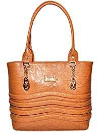 The Golden City Elegant Brown Ladies Handbag