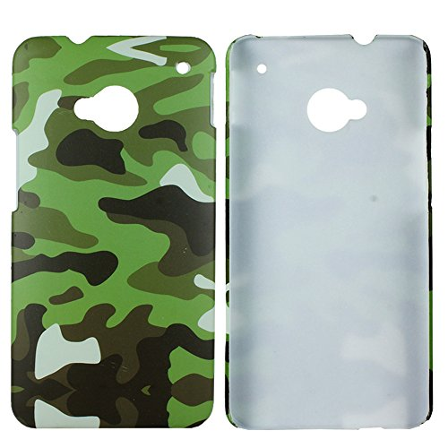 Heartly Army Style Retro Color Armor Hybrid Hard Bumper Back Case Cover For HTC One M7 Single Sim 801e - Army Green  available at amazon for Rs.149