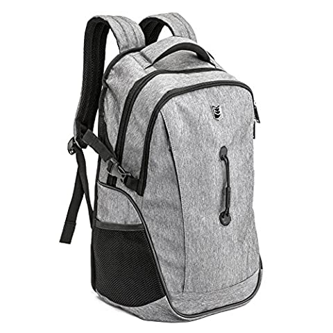 Evecase 17 Inch Laptop Backpack Rucksack Knapsack Daypack for Acer Apple Asus Dell HP Lenovo Samsung Sony Toshiba Tablets, Notebook, Chromebook, Ultrabook, PC, and Computer - Grey