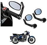 #4: Andride Bar End Mirror Rear View Mirror Oval For Royal Enfield Classic 350