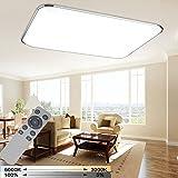 WYBAN LED 72W Dimmbar Deckenleuchte Deckenlampe Wohnzimmer bad Küche Panel Leuchte (72W Dimmbar+FB)