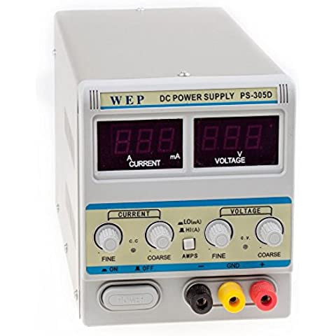 5A 30V DC Fuente de Alimentación Regulable Digital con ajustable LED Pantalla