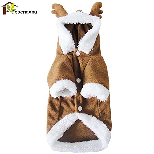 Alcoa Prime DIU# 4 Sizes Winter Pet Dog Cat Puppy Sweater Hoodie Christmas Lovely Apparel Warm Hoodie Coat