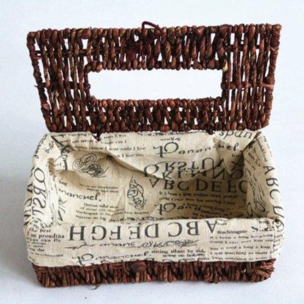 Generic Hochwertiges Produkt mit Trinkhalm, Weaving Papier-Herzen für Handtücher im Haushalt Tissue Box innen, mit Tuch, Buchstaben