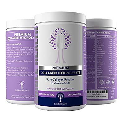 Highest Quality Hydrolysed Collagen with 100% Pure Protein Peptides from Trusted UK Seller (beware cheap products) by Edible Health