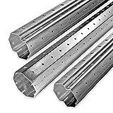 3,3 m bis 4,6 m Achtkant Rolladenwellen Set SW 60 verzinkt, Stahlwelle/Achtkantwelle, individuell kürzbar, Behangewicht bis max 30 kg, von EVEROXX®