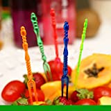 #8: Set Of 20 Dazzling Transclucent Plastic Fruit Fork Picks Tableware Gift Set For Christmas, Wedding, Birthdays and Party's
