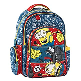 Graffiti Despicable Me Minions Mochila Escolar, 44 cm