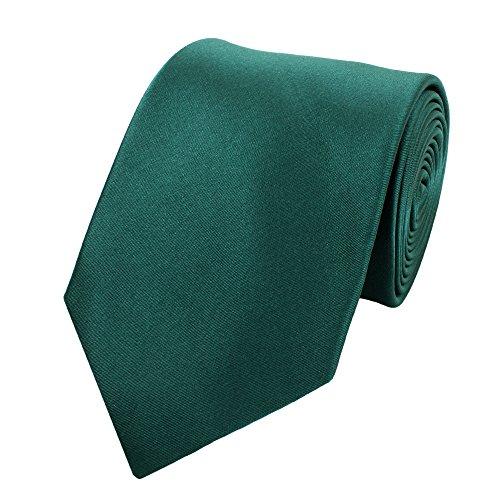 Fabio Farini Seidenweiche Krawatte 8 cm in verschiedenen Farben, Dunkelgrün -