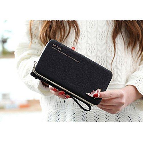 Portafogli da Donna Borsa con diamante tacchi alta modello, Sunroyal Multifunzionale [Grande capacità] Smartphone Wristlet Custodia Case Cover per Sony Xperia XA1, Sony xperia x compact, Sony xperia x Modello 11
