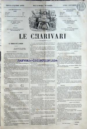 CHARIVARI (LE) du 03/09/1866 - LA SEMAINE DE LA BOURSE PAR ZABBAN -JULES MOINAUX