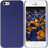 mumbi Schutzhülle für iPhone SE 5 5S Hülle (harte Rückseite) matt blau