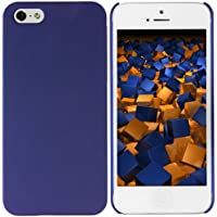 mumbi Schutzhülle iPhone SE 5 5S Hülle (harte Rückseite) matt blau