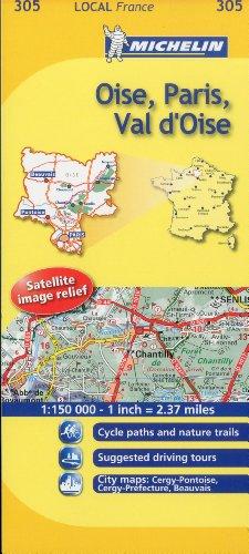 Oise, Paris, Val-d'Oise Michelin Local Map 305 (Michelin Local Maps)