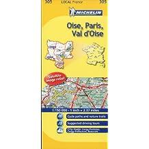 Michelin Map France: Oise, Paris, Val D'oise 305