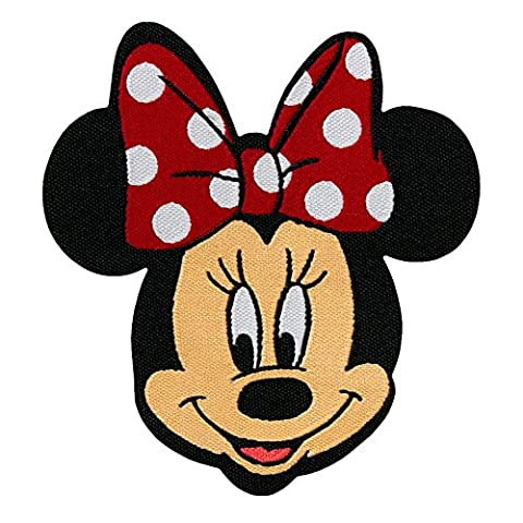 Ecusson - Minnie Mouse Disney comique enfants - rouge - 6,5x7,5cm - patches brode appliques embroidery thermocollant