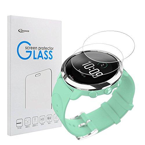 Qoosea Schutzfolie für Suunto 3 Fitness (2 Stück) Panzerglas Schutzfolie 9H Härte, Anti-Öl, Kratzer und Blasenfrei, Gehärtetes Glas Displayschutzfolie für Suunto 3 Fitness