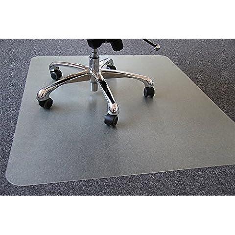 matsprotection–Tappetino per sedia da ufficio per pavimenti duri (laminato, parquet, piastrelle ecc.)–5misure a scelta, trasparente, 120 x 90