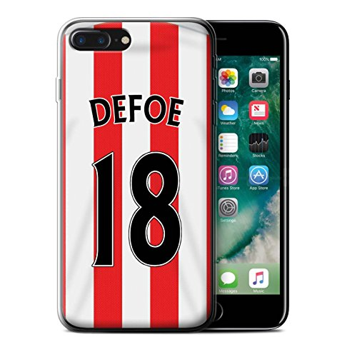 Officiel Sunderland AFC Coque / Etui Gel TPU pour Apple iPhone 7 Plus / Yedlin Design / SAFC Maillot Domicile 15/16 Collection Defoe