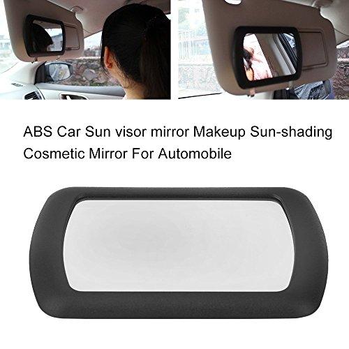 ABS Auto Sonnenblende Spiegel Make-up Sonnenschutz Kosmetikspiegel für Automobil (Farbe: Schwarz)