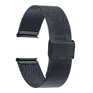 Für Garmin Vivoactive 3 Armband, TRUMiRR 20mm Milanese Uhrenarmband Edelstahl Bügel Universal Armband für Ticwatch E, Garmin Vivomove HR, Huawei Watch 2 (Sport), Samsung Gear Sport, Gear S2 Classic (SM-R732 / R735), Moto 360 2 42mm Herren, 40mm Daniel Wellington