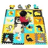 meiqicool Puzzle Tapis Mousse bébé Animaux 18 pièces 18 Dalles 30x30 cm Enfant Bas âge Tapis de Puzzles de Sol 010010