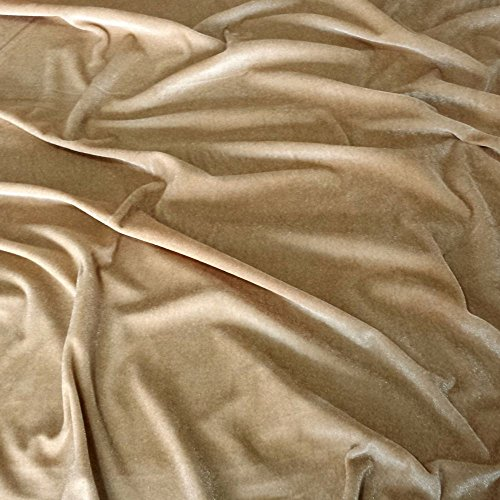 Latte Samt Super Weich Velours Stoff, Kleid, Tanz, Kostüm, Abend-150cm breit (Pro Meter)