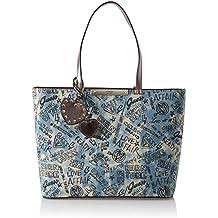 11cee7fa0 Guess - Britta, Bolsos totes Mujer, Azul (Denim/Den), 43x28x13