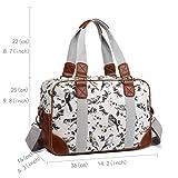 Miss Lulu Ladies Handbag Fashion Pattern Shoulder Tote Bags for Women Girls (1106-16J Grey)