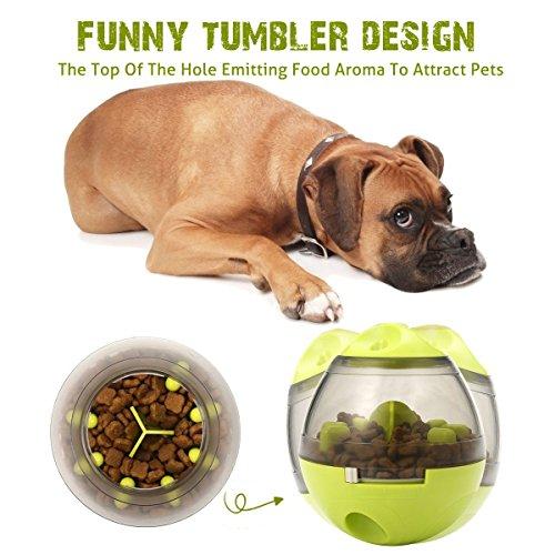 ALAMP Hundespielzeug Ball Interaktives Hundespielball Leckerli-Spender Snackball gegen Langeweile für Hunde und Welpen - 3