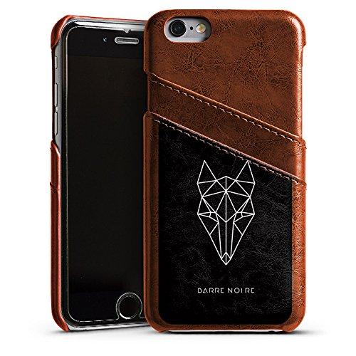 Apple iPhone 4 Housse Étui Silicone Coque Protection Renard Renard Motif Étui en cuir marron
