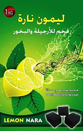 1Kg Lemon Nara Charcoal Coco Coconut Charcoal Hookah Shisha Nargila Coal