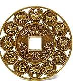 YWJHY Handwerk, Frieden, Kupfermünzen, Zwölf Tierkreiszeichen, Gedenkmünzen, Geschenke 2-Pieces,Als Zeigen,S