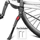 Fahrradständer, Baiker Fahrrad Seitenständer Universal Verstellbar MTB Hinterbauständer Faltbarer Aluminiun Ständer Einstellbarer Fahrrad Ständer für Mountainbike, Rennrad, Faltrad
