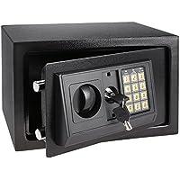 Hopekings Caja Fuerte Electrónica 310×200×200 mm, Caja Fuerte Digital con 4 Baterías, Negro