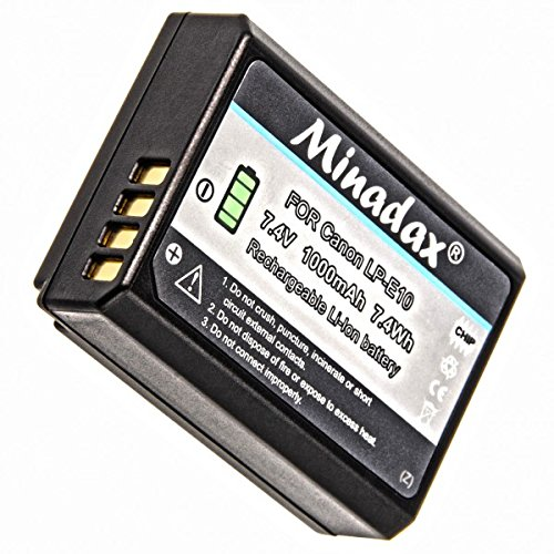 Batería para Canon EOS 1200d accu batería eos 1200 batería de repuesto