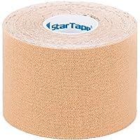 SL StarTape Kinesiologie Tape Beige - Sporttape Pflaster 5 cm breit und 550 cm lang - Sport Bandage - Verband... preisvergleich bei billige-tabletten.eu