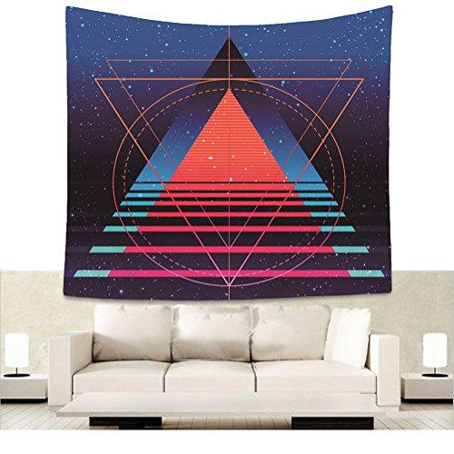 Visionäre Treppe Schritt Wandteppich Universum Raum Hintergrund Wandbehang Tapisserie Geistige Yoga Meditation Wanddecke Psychedelisch Heilige Geometrie Wandtuch Dekorative Wanddekor 51 * 59in