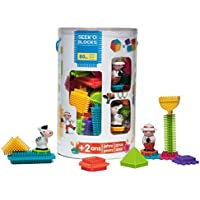 Seek'o Blocks - Jeu de Construction 1er âge - Seek'o Blocks Multicolore - Tube 80 Pièces avec personnages