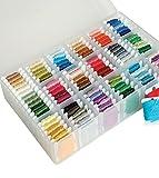 Caja portamadejas para carrete de costura incluye 100 mariposas,Hilo de coser Caja para hilos de costura Organizador Caja de Almacenamiento para Bolillos 100 Bobinas mariposas - 2AINTIMO®