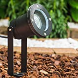 Gartenstrahler in Schwarz - Gartenbeleuchtung - Terrassenbeleuchtung - Gartenspot - Teichbeleuchtung - Wegelicht für gemütliche Abende im Freien
