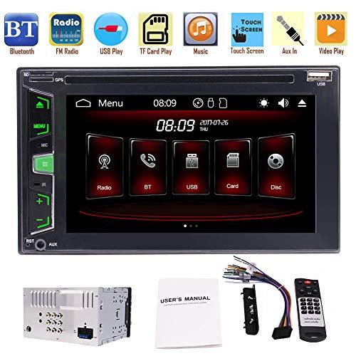 EinCar 2 Din Wince Double Din Autoradio stšŠršŠo de voiture avec 3 types d'interface utilisateur š€ šŠcran tactile -Capacitive 1080P vidšŠo Bouton coloršŠ support DVD de voiture Lecteur CD AUX USB SWC TšŠlšŠcommande Bluetooth FM AM RDS Radio