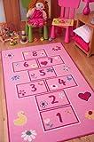 Tappeto gioco colorato per bambina, colore: Rosa 80x150cm