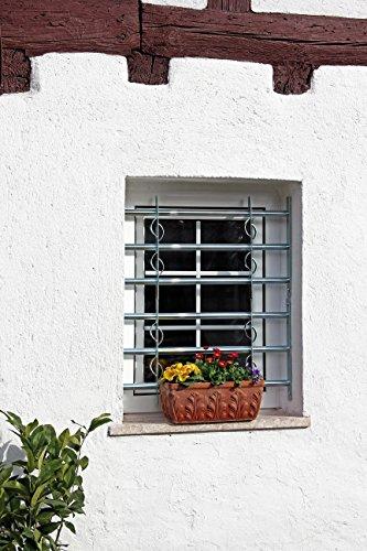GAH-Alberts 563653 Fenstergitter Secorino Style – ausziehbar, galvanisch blau verzinkt, 600 x 700-1050 mm - 4