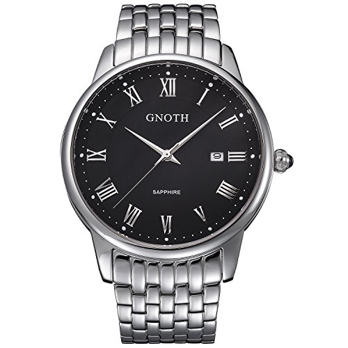 gnoth-mens-black-sapphire-stainless-steel-watch-with-date-roman-numeral-big-face