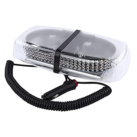 12 V 240LED Magnetic Emergency Amber Mini Bar Warning Strobe Light, [Import UK]