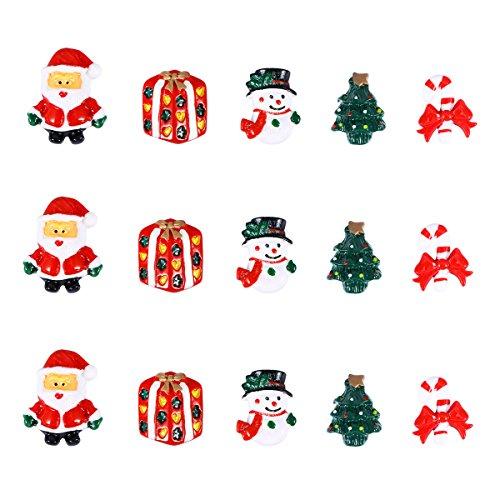 Rosenice decorazione di natale addobbi natalizi pupazzo di neve albero di natale babbo natale miniatura 15 pezzi
