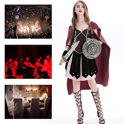 JH&MM Das Alte Römische Weibliche Kriegergöttinkleid Der Halloween-Kostümfrauen, Das Eingestellt Wird, Kleiden Rollenspielmaskeradeleistung An,M (Weibliche Sheriff Kostüm)