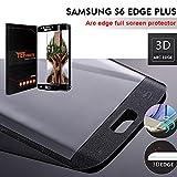 Samsung Galaxy S6 Edge Plus Protector de Pantalla, TEFOMATE® Vidrio Templado Protector de Pantalla Completa Tempered Glass Full Screen Protector para Samsung Galaxy S6 Edge Plus [Tecnología curvado 3D] [Black]